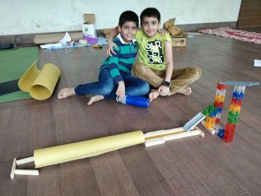 The joy of accomplishing something together!
